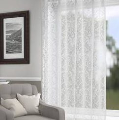 Trendy Java Curtain with Transparent Tape