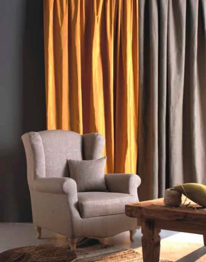 plain Tafetta curtain with Lining (standard)