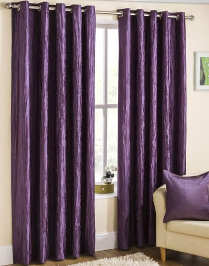 Crush Tafetta Curtain with Lining ''eyeleds""