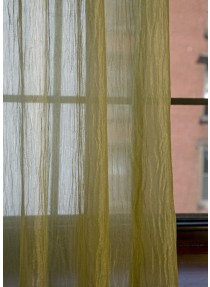 "Crush Organza ""Eyeled'' Curtain With Lead weight"