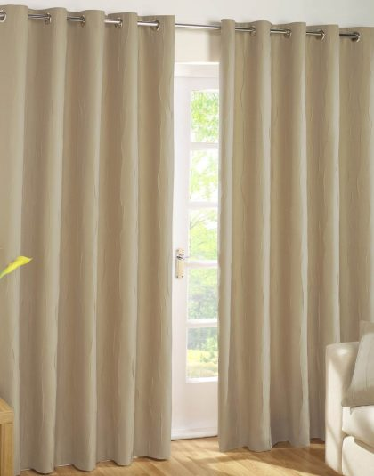 Plain Tafetta Lined Curtain ''Eyeleds''